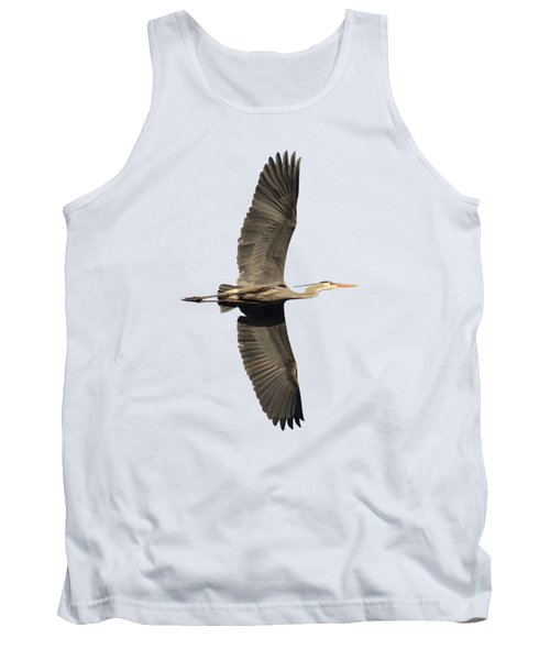 Isolated Great Blue Heron 2018-1 Tank Top
