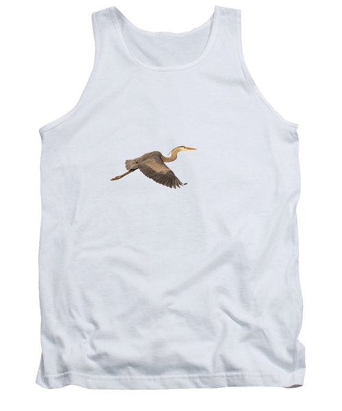 Isolated Great Blue Heron 2019-1 Tank Top