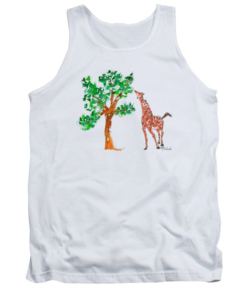 Jungle Giraffe Reach Tank Top