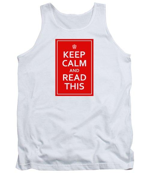 Keep Calm - Read This Tank Top