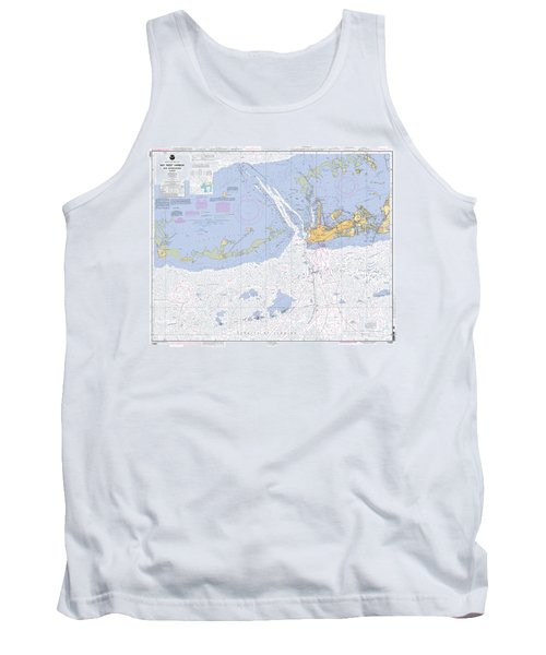 Key West Harbor And Approaches, Noaa Chart 11441 Tank Top