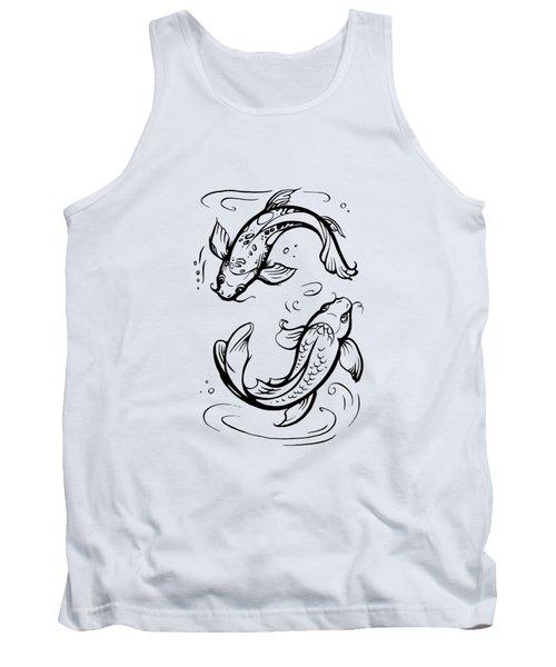 Koi Carps / Pisces Zodiac Sign Tank Top
