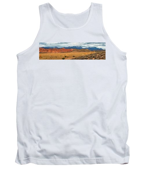 Tank Top featuring the photograph La Sal Mountains by Andy Crawford