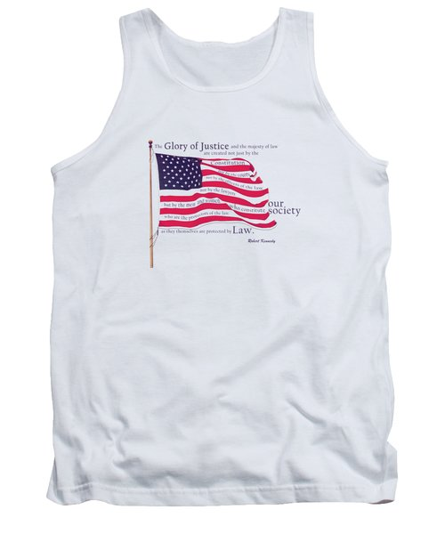 Law And Society American Flag With Robert Kennedy Quote Tank Top