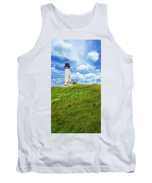 Lighthouse On  Yaquina Head  Tank Top