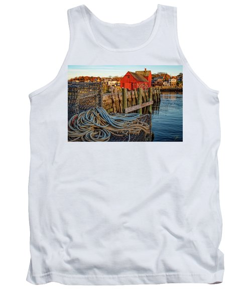 Lobster Traps And Line At Motif #1 Tank Top