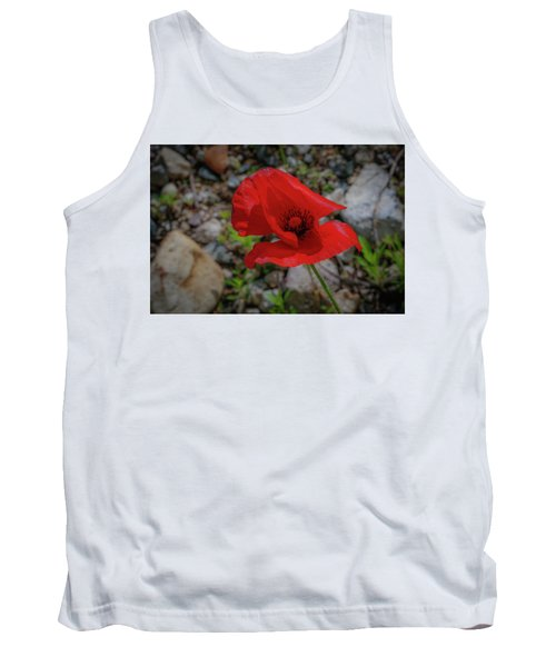 Lone Red Flower Tank Top
