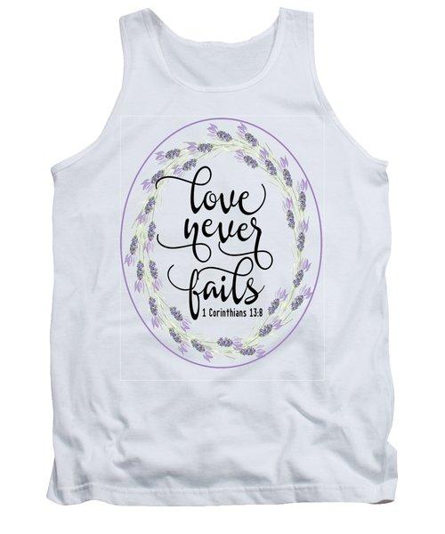Love Never Fails' Tank Top