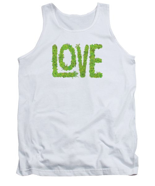 Love Succulent White Background Tank Top