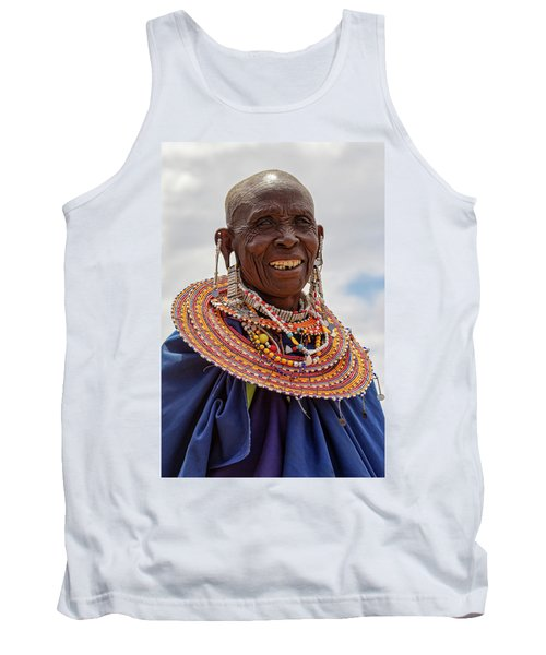 Maasai Woman In Tanzania Tank Top