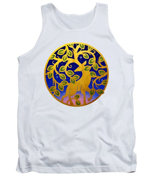 Magical Golden Stag Of The Forest At Dawn Tank Top