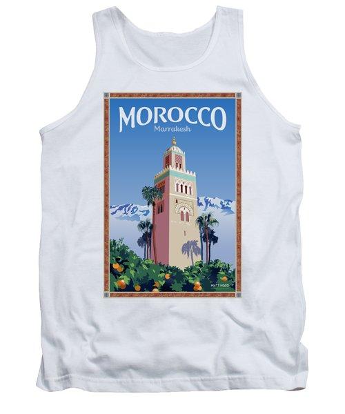 Marrakesh Travel Poster Tank Top