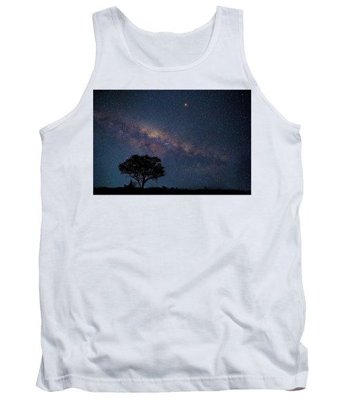 Milky Way Over Africa Tank Top