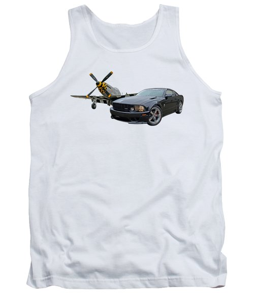 Mission Accomplished - P51 With Saleen Mustang Tank Top