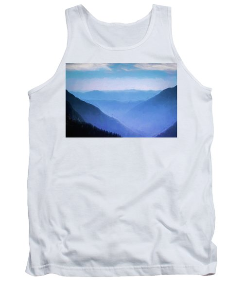 Montana Ridgeline Glacier National Park 101 Tank Top