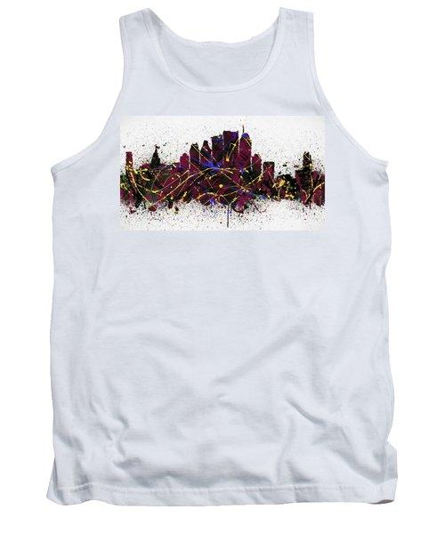 Monteal Colorful Skyline Splatter Tank Top