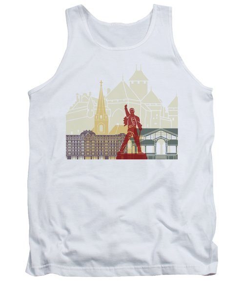 Montreux Skyline Poster Tank Top