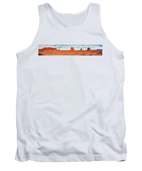 Tank Top featuring the photograph Monument Valley Panorama by Andy Crawford