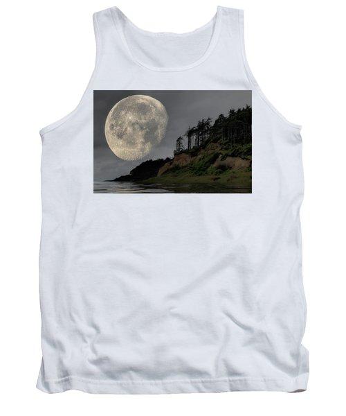 Moon And Beach Tank Top