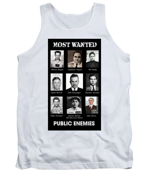 Most Wanted - Crime Public Enemies Tank Top
