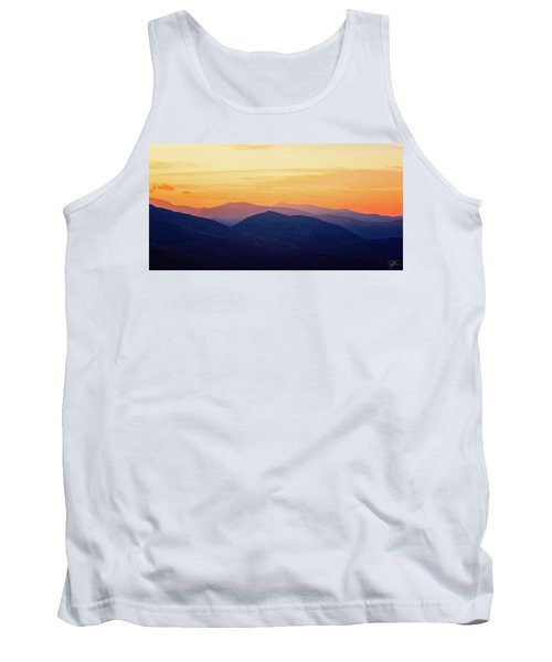 Mountain Light And Silhouette  Tank Top