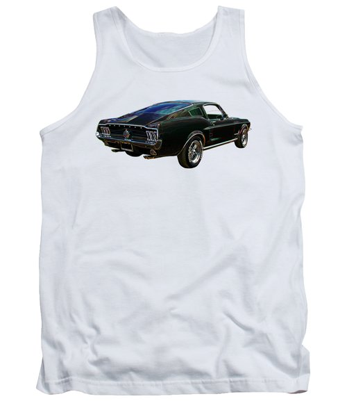Neon Mustang Fastback 1967 Tank Top