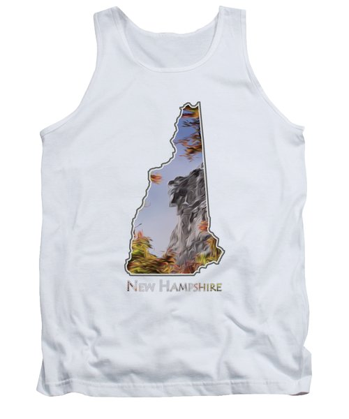 New Hampshire Old Man Logo Transparency Tank Top
