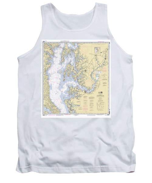 Chesapeake Bay, Cove Point To Sandy Point Nautical Chart Tank Top