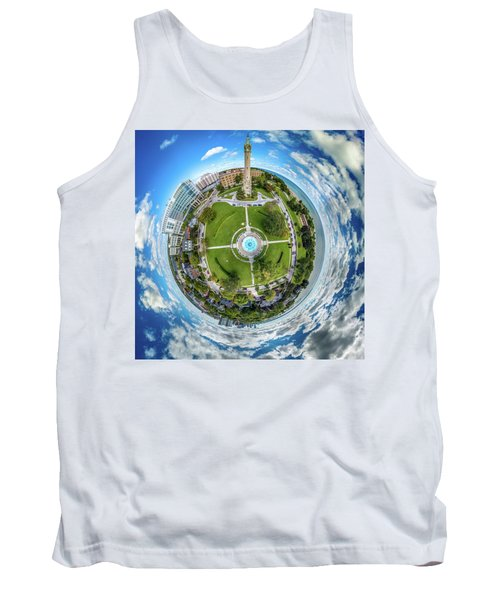 Tank Top featuring the photograph Northpoint Water Tower Little Planet by Randy Scherkenbach