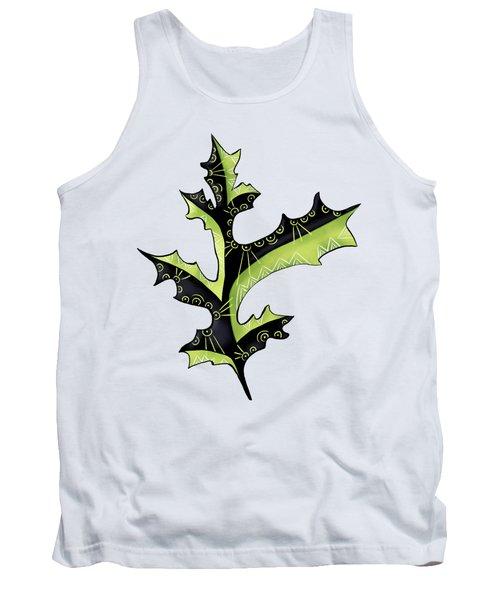 Oak Leaf With Tattoos Tank Top
