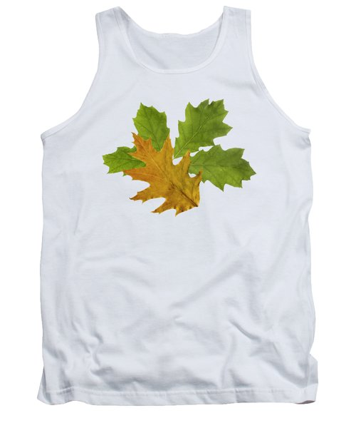 Oak Leaves Pattern Tank Top