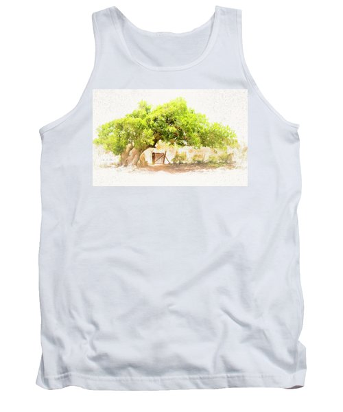Old Leaning Tree At Sandy Hill  Anguilla Tank Top