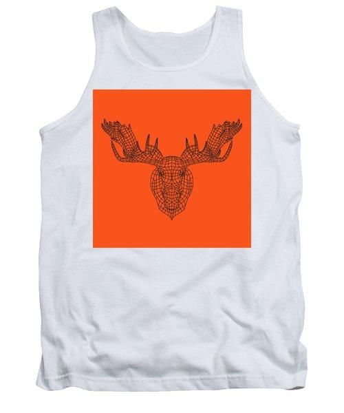 Orange Moose Tank Top