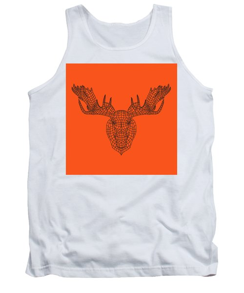 Orange Moose Tank Top