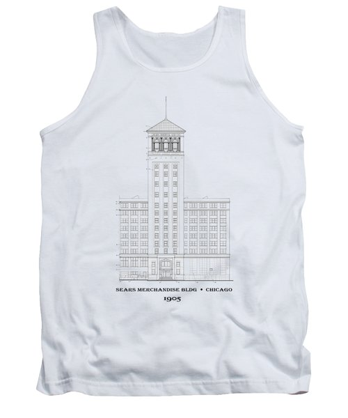 Original Sears Building And Tower - Chicago 1905 - T-shirt Tank Top