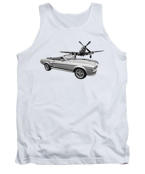 P51 Meets Eleanor In Black And White Tank Top