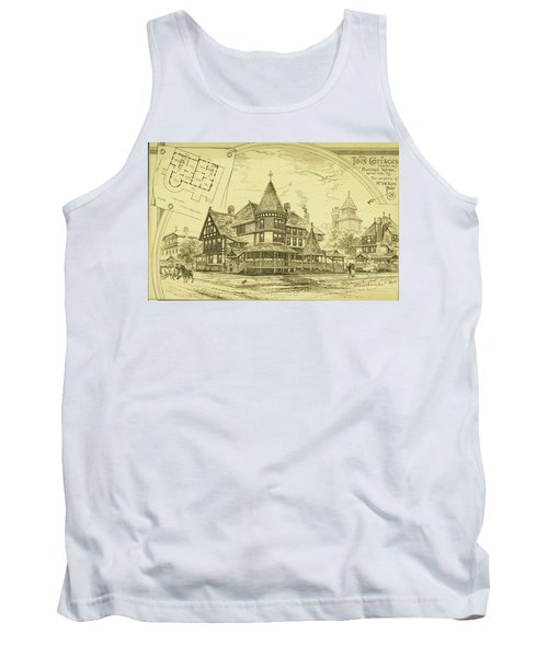 Pair Of Twin Cottages, Hastings Square, Spring Lake, Nj Tank Top