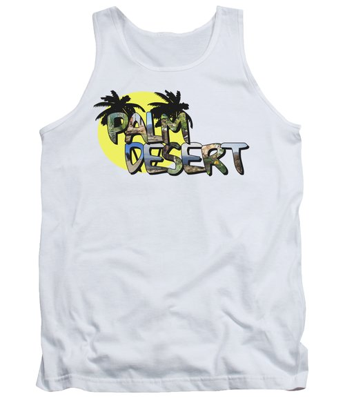 Palm Desert Large Letter With Moon Tank Top