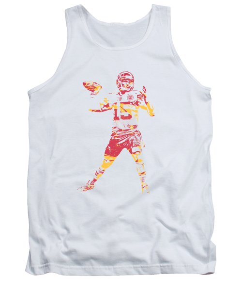 Patrick Mahomes Kansas City Chiefs Apparel T Shirt Pixel Art 1 Tank Top