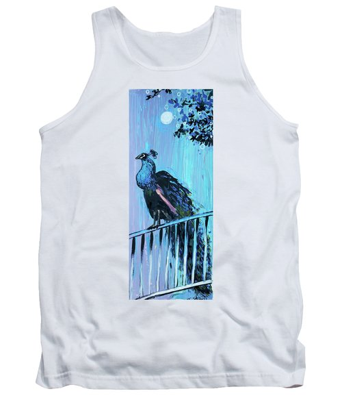 Peacock On A Fence Tank Top