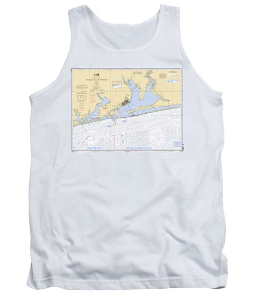 Pensacola Bay And Approaches Noaa Chart 11382 Tank Top