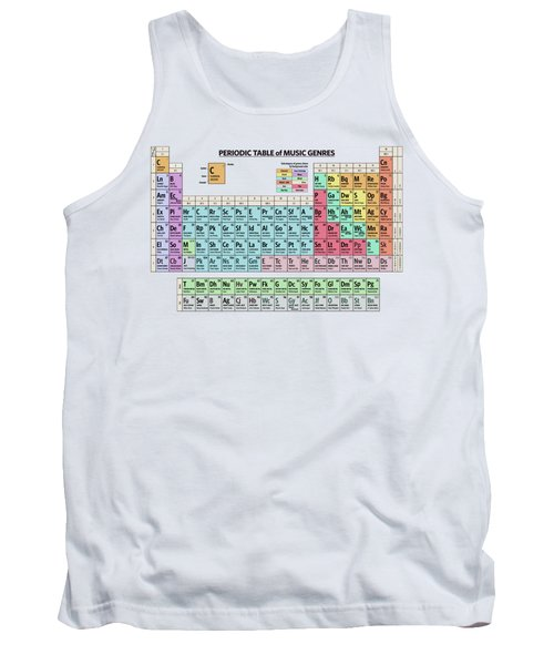 Periodic Table Of Music Genres Tank Top
