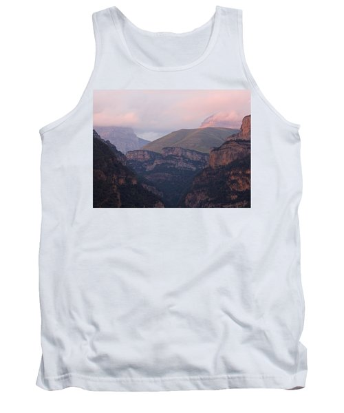 Pink Skies In The Anisclo Canyon Tank Top