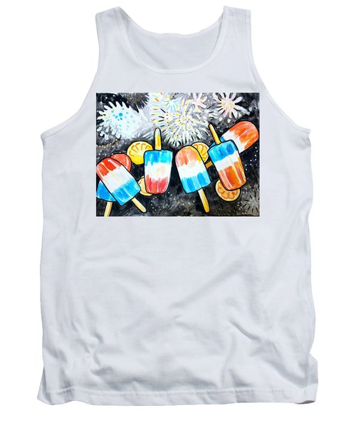 Popsicles And Fireworks Tank Top
