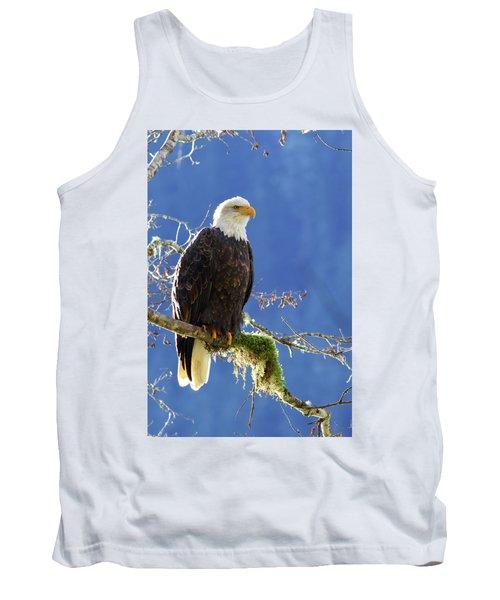 Portrait Of A Backlit Bald Eagle In Squamish Tank Top