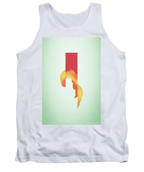 Powder Bone Flare - Surreal Abstract Elephant Bone Collage With Rectangle Tank Top