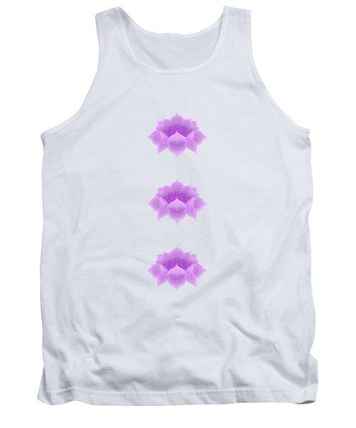 Purple Lotus Pattern Tank Top