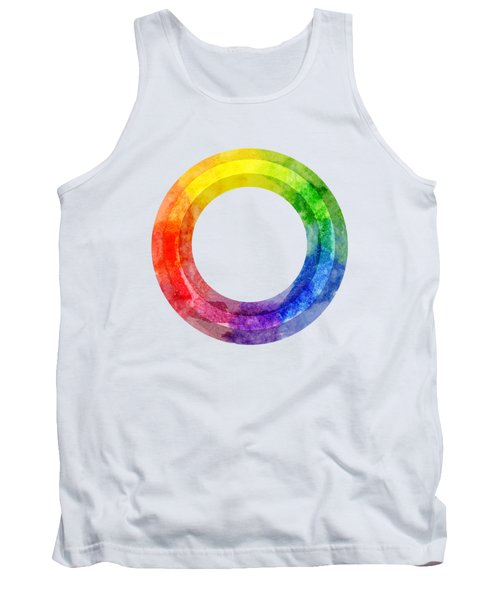Rainbow Color Wheel Tank Top