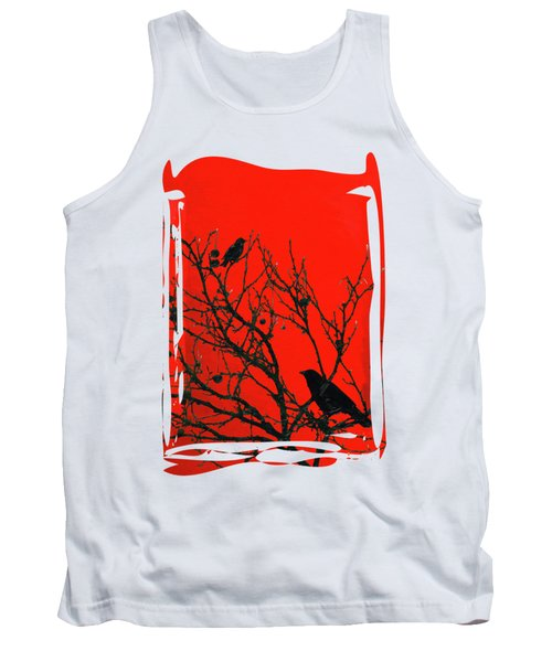 Raven - Black Over Red Tank Top