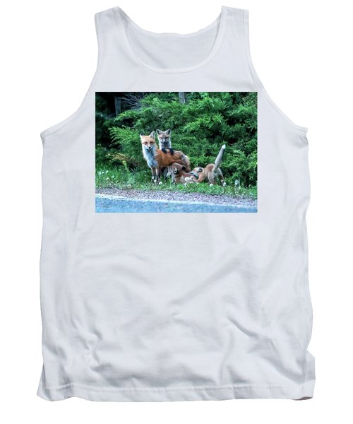 Red Fox Family Tank Top